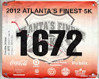 ATC Atlanta's Finest 5K, my race bib