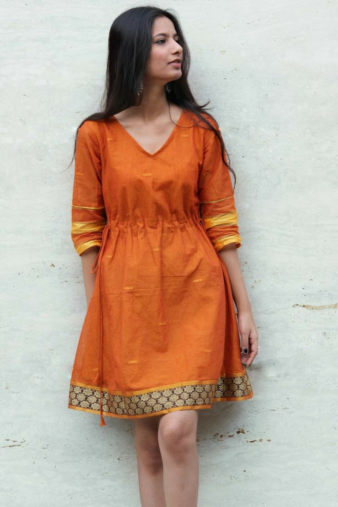 How Do you Make An Old Fashioned Saree into Dress and Frock? Check This Out.