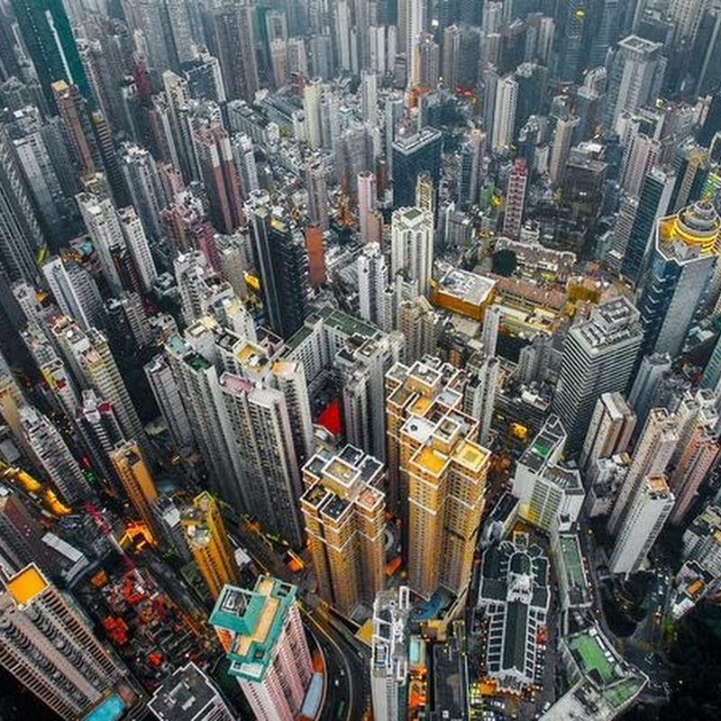 Drone Photos Show The Density of Hong Kong's High Rises