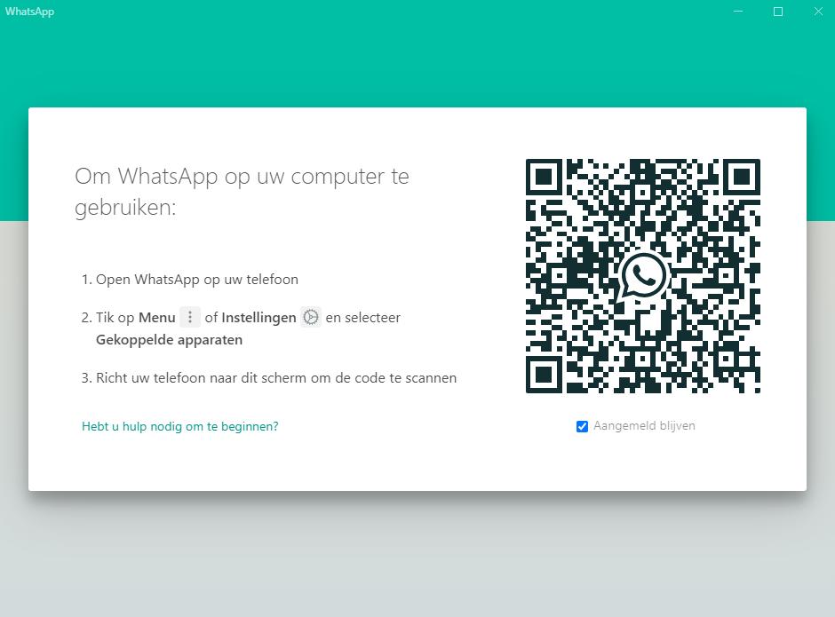 WhatsApp op laptop installeren door QR-code te scannen
