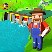 Village Farm Dam Construction: Dam Building Games