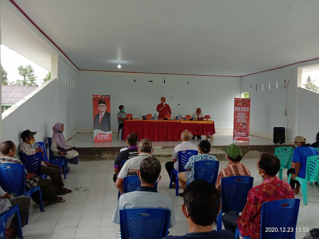 Anggota DPR RI Arwan Aras Kunjungi Polongaan Sebagai Desa Percontohan Kerukunan Beragama Sulbar