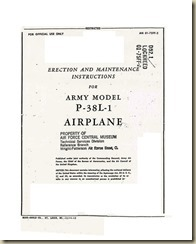 Lockheed P-38L-1 Army Erection and Maintenance Instructions_01