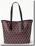 Liberty Dark Red Coated Canvas Tote