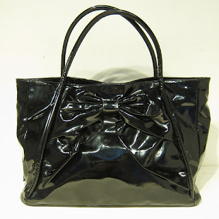 Valentino Patent Betty Bow Tote Bag