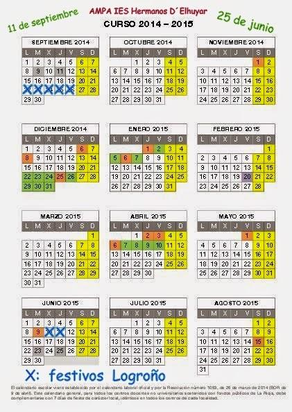 Calendario Escolar Logroño