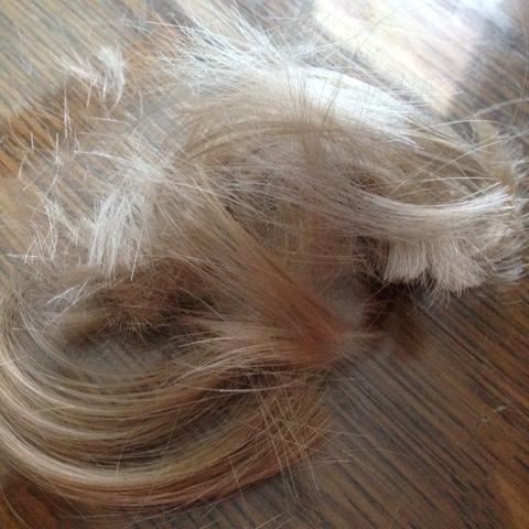 Abgeschnittene Haare