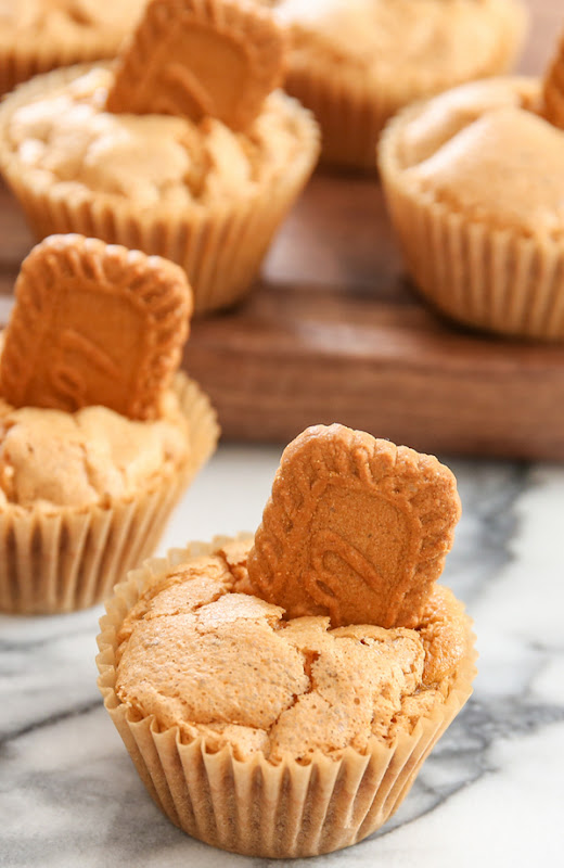 close-up of Cookie Butter Muffins