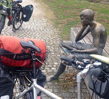Neckarquelle mit Rädern