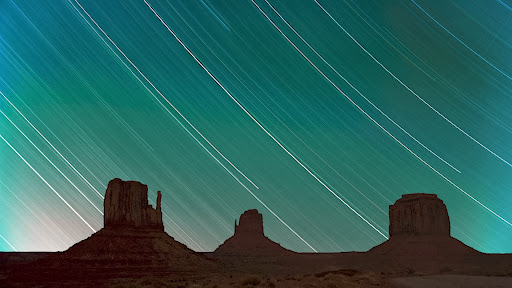 Star Trails Over Monument Valley, Arizona - Utah Border.jpg
