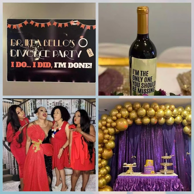 Nigerian Lady Throws A Divorce Party, Celebrates With Friends