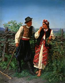 Константин Трутовский У плетня.jpg