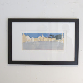 Signed Italian Plaza Lithograph