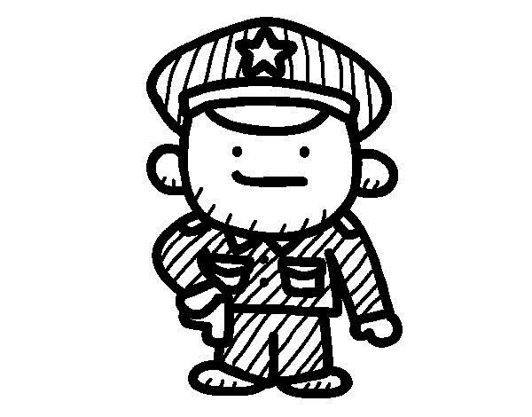colorear policias  (1)