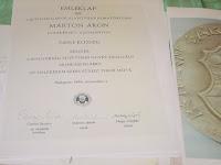 03 Márton Áron Emlékérem emléklapja 1988.JPG