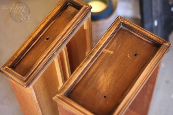 Sanded drawer fronts