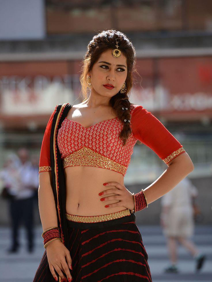Telugu Actress Rashi Khanna Hot navel Show