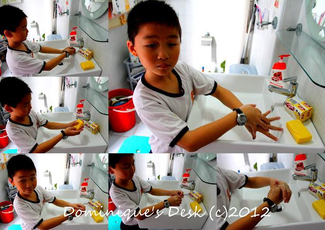 Monkey boy handwashing