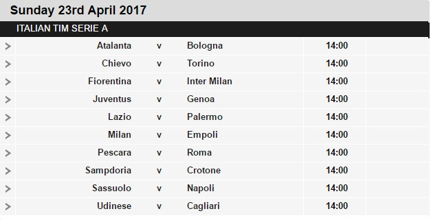 Serie%2BA%2Bschedule%2B33 Planning a Football Trip to Italy - SERIE A FIXTURES 2016/17