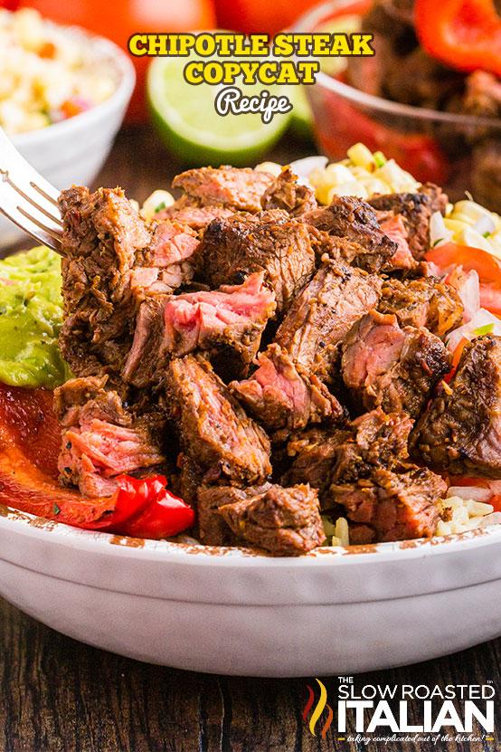 Chipotle Steak Copycat Recipe in a bowl