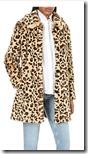 Claudie Perlot leopard print faux fur coat