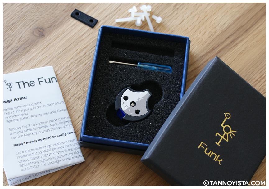 Funk Firm Houdini Cartridge decoupler box contents - Tannoyista.com