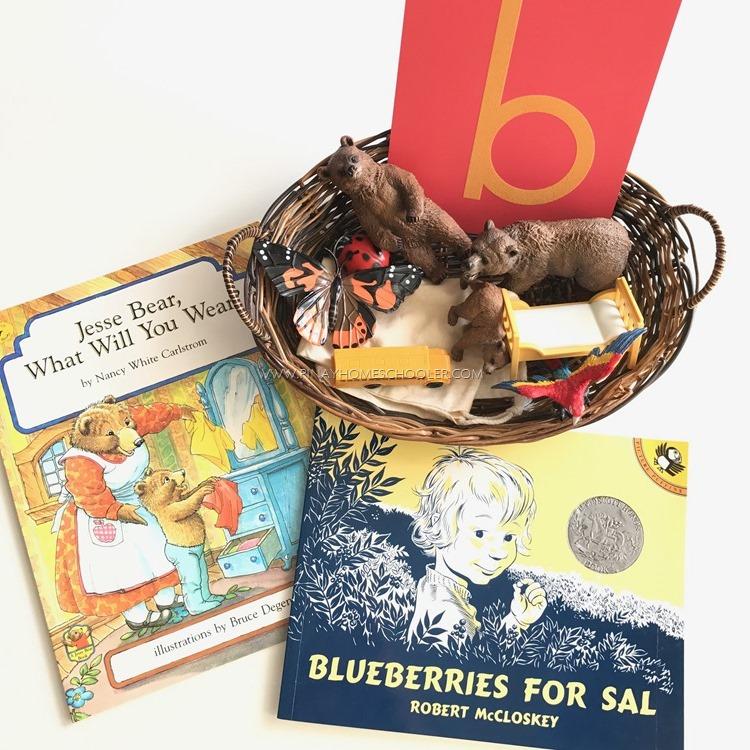 Letter B Objects Basket