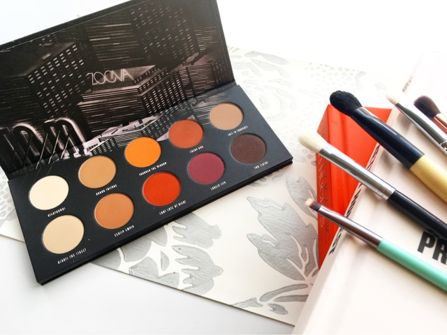 review zoeva eyeshadow palette with nc40 swatches warm matte eyeshadows for medium skintone