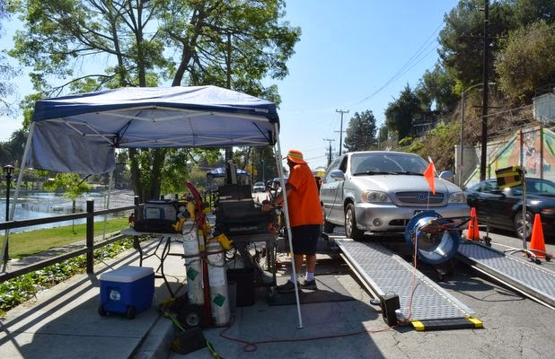 Echo Park, vehicle emission survey