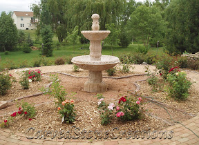 carved stone fountain, estate fountain, Exterior, Fountains, garden fountain, garden fountains, granite fountain, outdoor fountains, stone fountain, stone garden fountain, Tiered