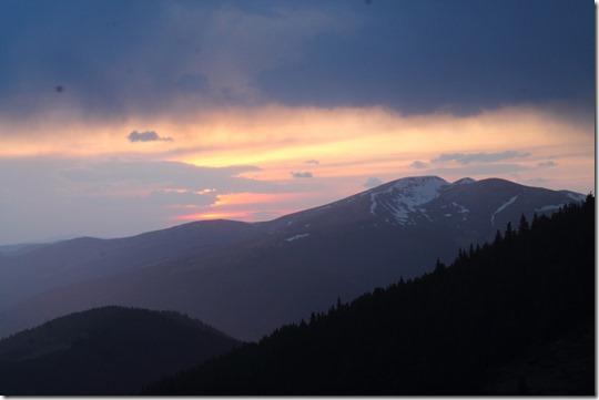 Захід сонця Карпати