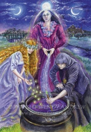 Goddess In Purple, Goddesses