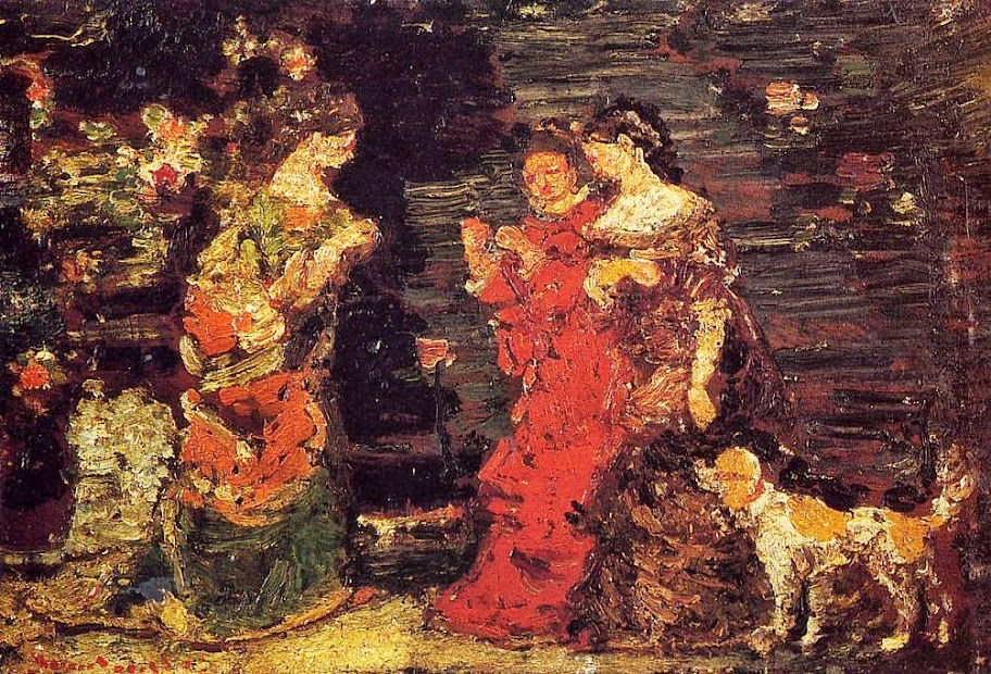 Adolphe-Joseph-Thomas Monticelli - The Promenade