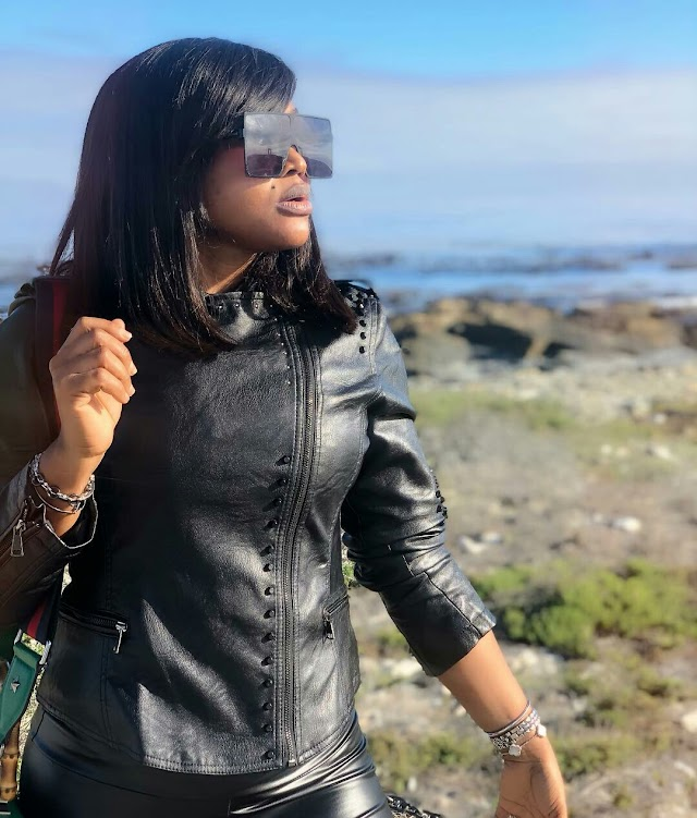 Rokmetour2019: Actress Mercy Aigbe Visit Robben Island CapeTown .