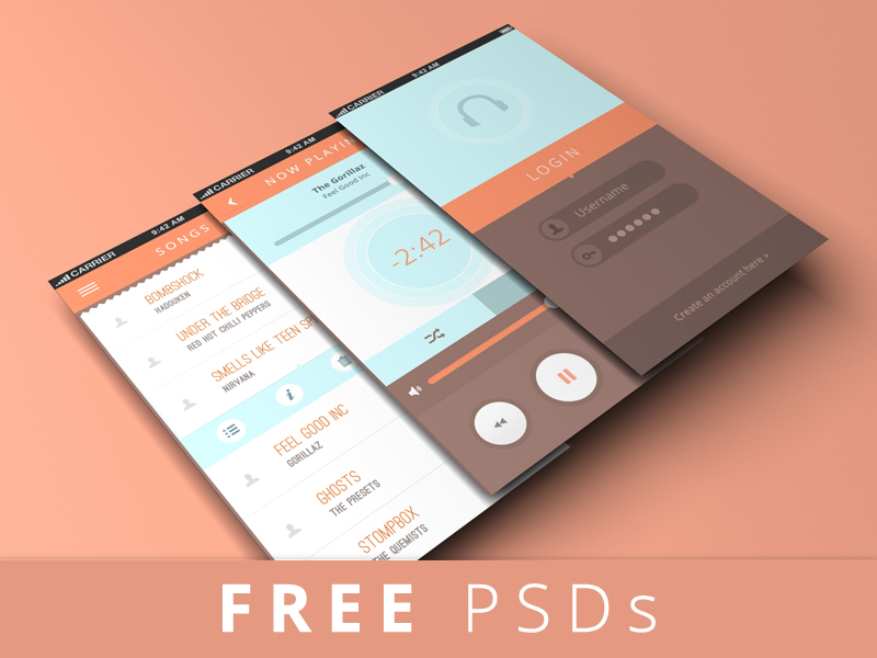 iGravity Screen Mobile Layers PSD