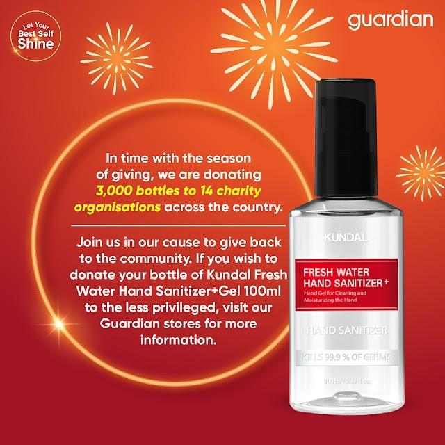 Sebanyak 15,000 Botol Cecair Pembasmi Kuman Diberikan Kepada Mereka Yang Memerlukan Melalui Kempen Kebajikan Guardian Healthy Beauty From The Heart