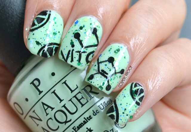 OPI Lime Nail Art Review Seriously Citrus and That's Hularious Swatch