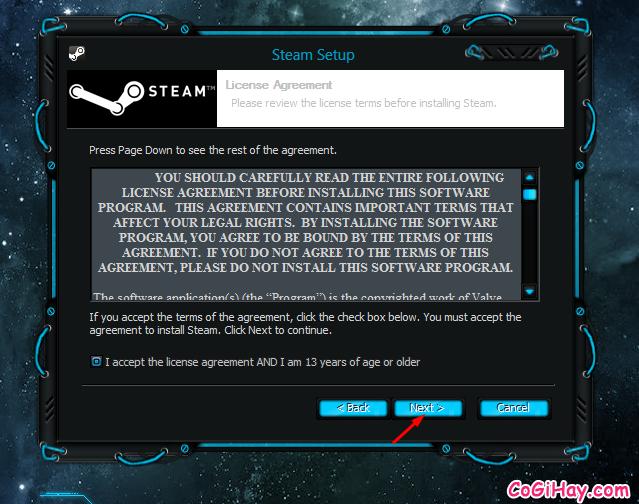 đồng ý chính sách Steam