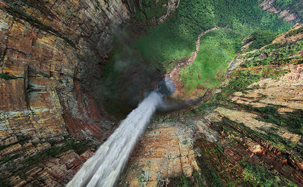 waterfall1 mini Sensational 360 Degree Aerial Panoramas Of Angel Falls [PHOTOS]