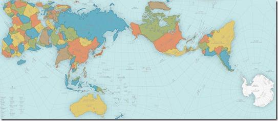 Planisfério segundo a projeção Authagraph do japonês Hajime Narukawa