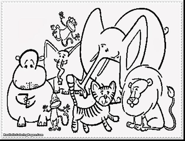 Good Zoo Animal Coloring Pages With Zoo Animal Coloring Pages And Realistic  Zoo Animal Coloring Pages
