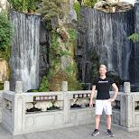 gorgeous waterfall garden at longshan temple in Taipei in Taipei, T'ai-pei county, Taiwan