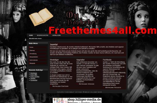 Free Joomla Book Vintage Store Template