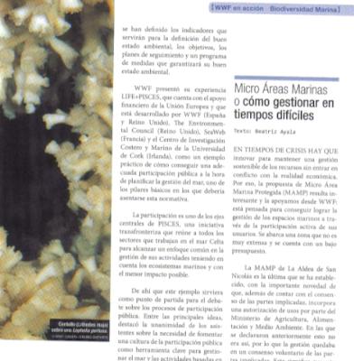 WWF apoya la propuesta de Micro Áreas