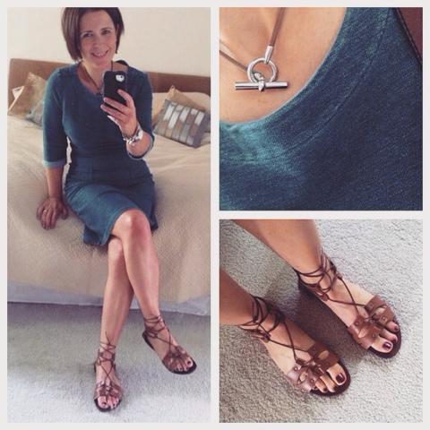 aff9db026 Joules Denim Dress   TopShop Lace-Up Sandals