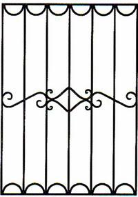 Кованая решетка артикул №08 чертеж изготовление по размерам на заказ