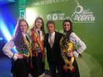 Germano Rigotto na Expointer 2014 com a Rainha Letícia Kuhn e com as Princesas Mônica Fonseca e Marilinda Corrêa, que realizam um belo trabalho de divulgação do evento.
