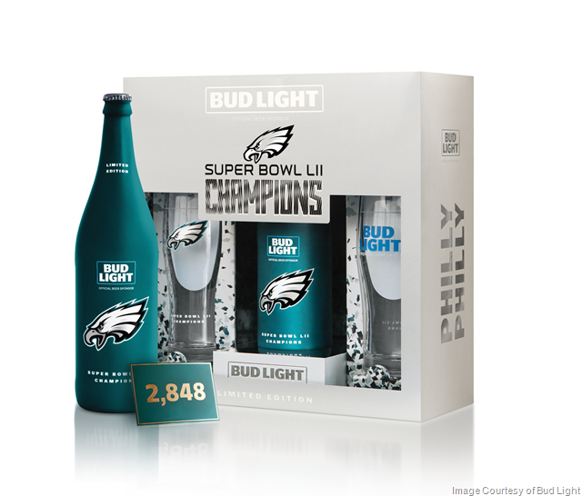Bud Light Releasing Super Bowl LII Champions Philadelphia Eagles Packs