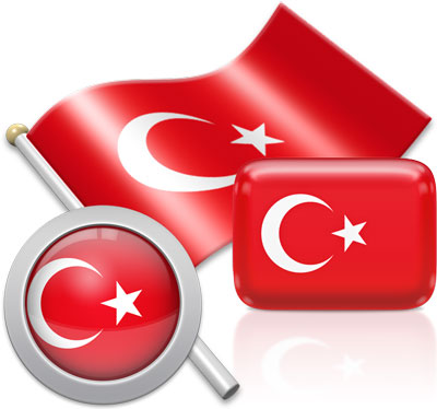 Turkish flag icons pictures collection