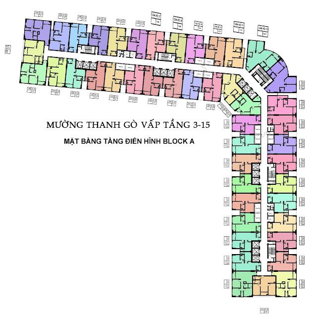 Mặt Bằng Căn Hộ Block A Mường Thanh Gò Vấp Sài Gòn